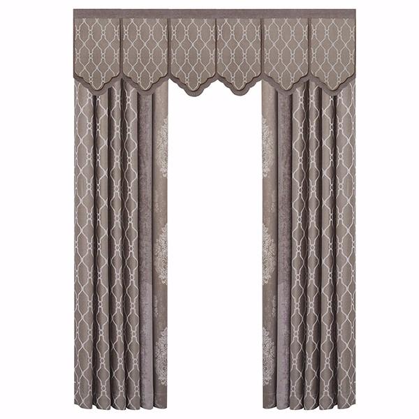 新中式窗帘布艺